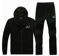 Free Shipping,2013 Men's Hoodies, Sweatshirts,Men's Casual Wear, Autumn wear,Fashion Style,Black&Grey Mne's Outdoor Sportwear