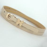FREE SHIPPING New models women's butterfly buckle thin belt Hot-selling female Pin Buckle belts NPD60