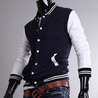 2013 Autumn New Fashion Slim Fit Coat Special Zip Up Designer Hoddies Mens Warm Clothing Out Wear Men Red Black Navy Blue M~XXL