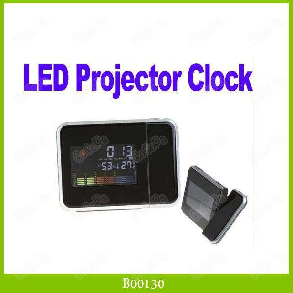 Mini Desktop Digital LCD Screen LED Projector Alarm Clock Multi-function Weather Station 1PCS/LOT(China (Mainland))