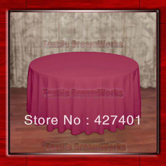 """Hot Sale 120""""R Hot Pink 210GSM Polyester plain Table Cloth For Wedding Events & Party Decoration(Supplier)(China (Mainland))"""