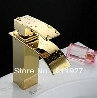 free shipping gold color brass tap basin faucet deck mixer CE approved with high quality for face washing hand washing