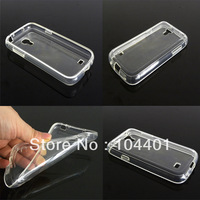 free shipping 1pc New Transparent Clear Soft Rubber silicon TPU Skin Case Cover For Samsung Galaxy S4 Mini i9190