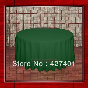 """Hot Sale 120""""R Moss 210GSM Polyester plain Table Cloth For Wedding Events & Party Decoration(Supplier)"""