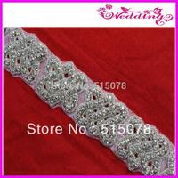 New Arrive Bridal Motif Glass Stone Shine Sashes Wedding Belt-Free shipping
