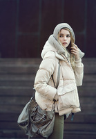 2013 autumn and winter new arrival casual clothes design short down coat female plus size available