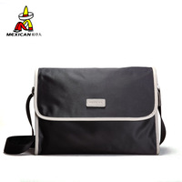 2013 casual male shoulder bag clad cover type horizontal canvas bag messenger bag