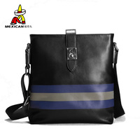 2013 fashion vertical stripe messenger bag genuine leather man bag casual leather bag