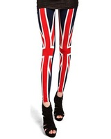 2013 spring new arrival fashion torx flag paillette 100% legging cotton slim female