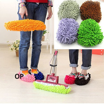 Brazil Free Shipping 10pcs x Multifunction Mop House Bathroom Floor Lazy Dust Cleaner Slipper Shoes Cover