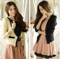 2014 new hot Fashion Cozy women clothes Shawl Coat blazer slim Wild suit Jacket Creased satin WA