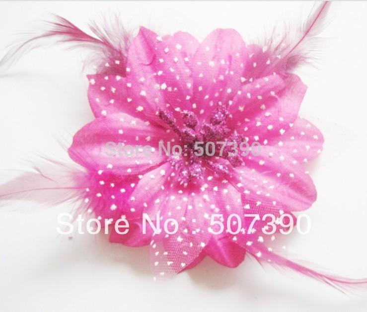 Wholesale - 2013 new Colorful Free shipping Baby Hair Bow Gerbera Daisy Flower Headband Clip 10pcs/lot(China (Mainland))