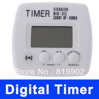 Retail Unique Digital Kitchen Cooking CountDown Timer Alarm Clock LCD White Beautiful