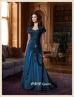 2012 tube top fish tail slim design placketing long train evening dress mother dress costumes