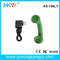 Wireless telephone handset , bluetooth wireless factory retro pop phone handset ,bluetooth telephone handset adapter