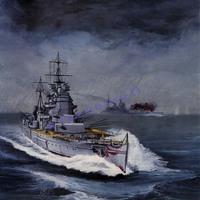 Free shipping 2013 Paper ships Model British battleship KING GEORGE V simulation 1:400/56.8CM Long 3d puzzle handmade decoration