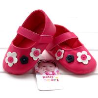 Red princess handmade little flower baby toddler shoes film js009