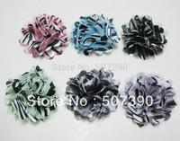 Wholesale - 2013 Leopard Corsage Free shipping Chiffon  flower hair  chiffon flower corsage for children  headband 24pcs/lot