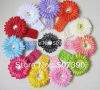 2013 new Daisy  Children's knitted headband knit headband ribbon widening for girl/children Girls Crochet Headbands 12pcs/lot