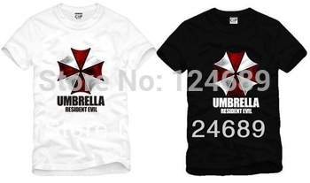 Free Shipping Size 90/100/110/120/130/140/150cm kids tshirt umbrella Resident Evil umbrella logo printed t shirt 100% cotton