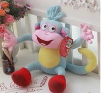Free shipping 25cm Boots little monkey plush toys, Dora the Explorer dola dolls, children's gift bags wholesale Rascal
