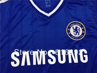 Top Thailand quality embroidery logo Chelsea 13-14 Home Jersey soccer shirt free shipping blue colour S,M,L,XL