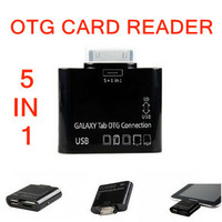"""5 in 1 USB Camera OTG Connection Kit for Samsung Galaxy Tab 10.1 & 7"""" Tablet P7500 P5100 P6800 P3100 Card Reader,BK003"""