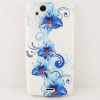 Blue Flower TPU CASE COVER SKIN COATING For SONY ERICSSON Xperia Arc S LT15i LT18i X12