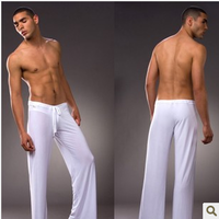 Free shipping Sexy lingerie Slip loose Men's sports pants Breathable cool Home pants Trousers Casual pajama bottoms