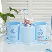 Toiletries bathroom shelf double cup rack toothbrush cup set toothpaste toothbrush