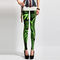 2 2013 fashion personality fashion slim Women neon green color block legging