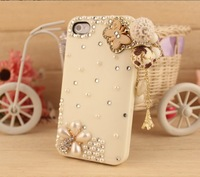 case for iphone5  beautiful tassels case for iphone  With the pearl support wholesale