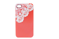 Free shipping Lace flower hard pc case for iphone5 wolesale supply 20pcs lot
