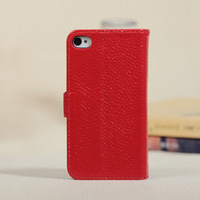 High Quality leather case for iphone4/4s 8 Colors free shipping with 2 gift
