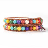 2013 wholesale fashion multi colourful leather new bracelet for girls