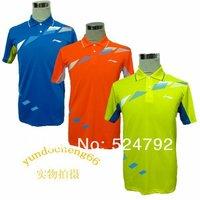 wholesale!free shipping Li-Ning Man's London 2012 Olympic Games T-Shirt Table Tennis,Ping Pong Blue, yellow, orange