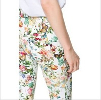 hot selling 2013  autumn fashion multicolour print pants casual basic trousers skinny pants