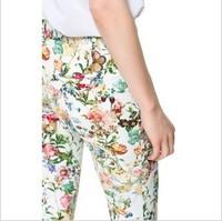 hot selling 2013  autumn fashion multicolour print pants casual basic trousers skinny pants