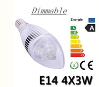 Promotion!!! free shipping high power dimmable AC85~265V E14  12w LED Crystal Light lamp free shipping