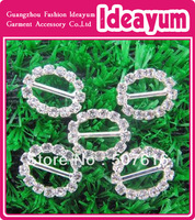 10mm Oval Rhinestone Ribbon Buckle Slider 200pcs/lot