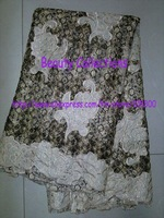 Free shipping!!! French lace,chemical lace,water solution lace,nice new design lace fabric FL152 beige