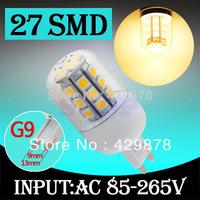 12pcs G9 Warm White 27 LED SMD Home Corn Bulb LED Light Lamp 85-265V 110V 220V 230V With Cover 5050