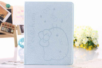 hello kitty leather case for ipad2/3/4  free shipping wholesale supply