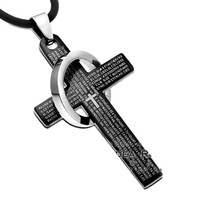 Free shipping 2013 New Fashion statement men neoglory cross necklaces hip hop the crown  jewelry Wholesale Price