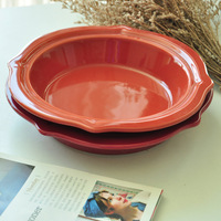 New arrival fashion western ceramic dish plate soup plate free shipping