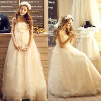 Free Shipping 2014 Fashion Sweet  Lovely High-quality  Princess Bride Wedding Dress