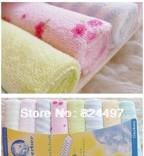 1set 8pcs children baby small towel handkerchief dedicated / feeding towel Free Shipping M0244(China (Mainland))