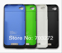 Free shipping 1900mah external battery case For iPhone 4 4S 4G Rechargeable Backup Battery Case power Charger 5pcs