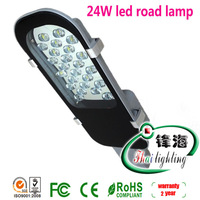 Free Shipping factory sale 24W led road lamp led street light led road lamp AC85V-265V For worldwide 2 years Warranty CE RoHs