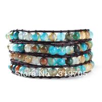 2013 newest style fashion wrap leather bracelet sales promotion